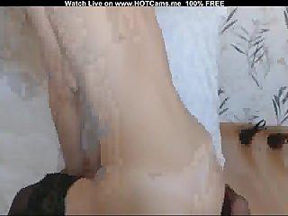 Hot Blonde Teen With Stockings Masturbate