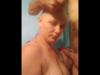 Going bald while sucking dick