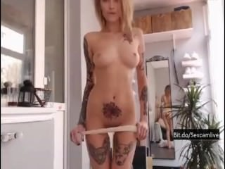 Hot Blonde Camgirl Playing and Stripping onCam