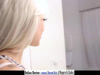 Blonde teen fucking in bathroom