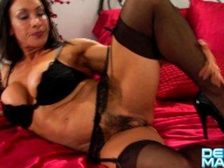 Denise Masino – Garter Shoot – Female Bodybuilder