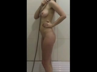 Wet shower solo Dutch milf Maaike