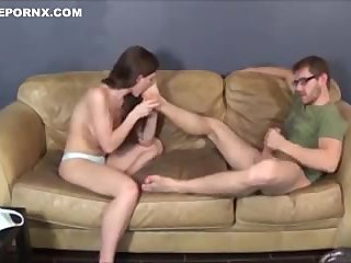 Beautiful teen sister fuck with step-bro