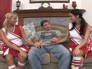 Cheerleaders' teamwork