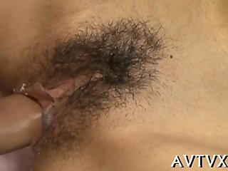 Wicked fucking for cute Asian babe