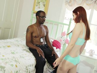 Violet Monroe Redhead And Black Guy