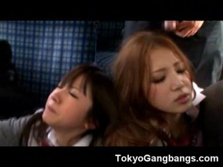 Helpless Asian Teens Gangbanged in a Bus!