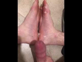 Big Dick White Teen Cum Compilation Cums on Feet!