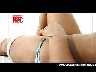 Latina at her first porn photoshoot