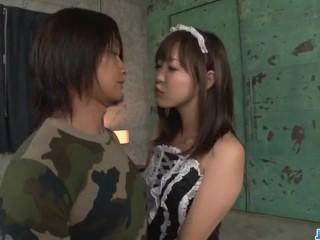 Sexy maid, Momoka Rin, pleases master with