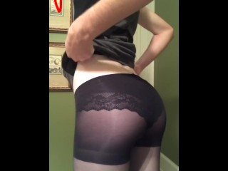 Slutty crossdresser solo