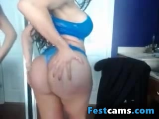Milf play with her new boobs and ass