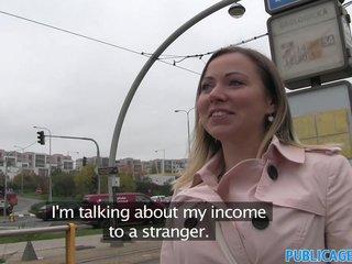 PublicAgent Bibi fucks a stranger outside