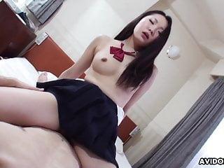 Mizuki is blushing while having hardcore sex with her profes