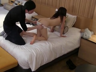 JAV CMNF skinny amateur stripped for oral Subtitle