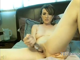 Sexy Brunette Playing With Herself