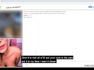 I was doing some university assignments and then I was in a sexcall in Omegle – Teacher & Schoolgirl