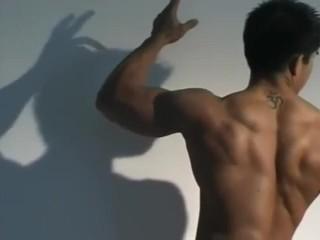 Asian Bodybuilder Artistic Posing 1