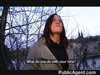 Publicagent – Brunette is paid for sex