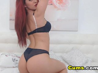 Sexy Redhead Slut Playing with her Dildo