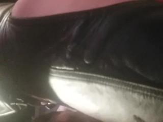 Hot leather fucking