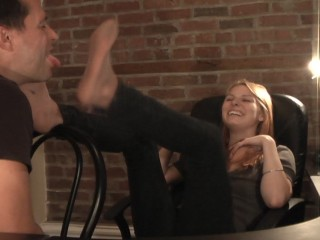 Christy Discovers Foot Fetish