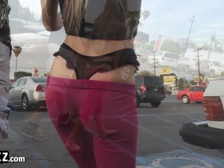 Tight Blonde In A Thong Gets Fucked!