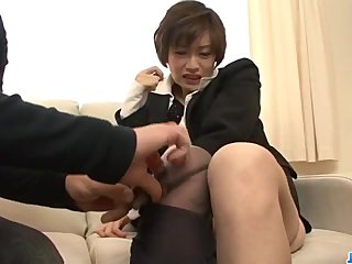 Rouhg pounding for cute office beauty Akina