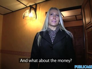 PublicAgent Sexy looking blonde takes cash