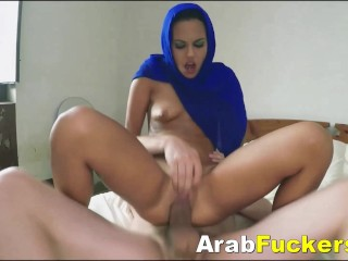 Nervous Arab Cleaner Takes Cash For Swallowing Monster Cock