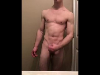 Flexing after a workout