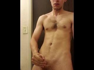 Solo Big Dick Teen Strokes Until Huge Cumshot