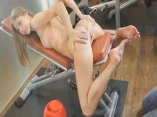 Krystal Boyd working out for a photoshoot
