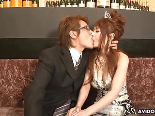 Japanese beauty queen, Kanon Fubuki got banged and creampied