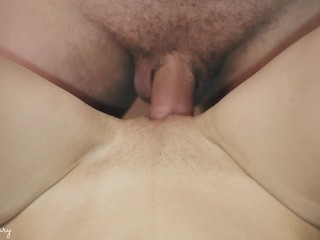 QUICK PUSSY FUCKING AND CREAMPIE – VERY WET PUSSY CLOSEUP