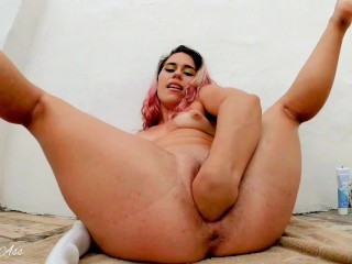 Fisiting in my little pussy, self and autofist! vibro max in my pussy !!! 2 orgasm!!!-aprilbigass-
