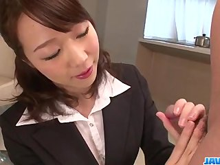 Hitomi Oki looks eager to palce this dick