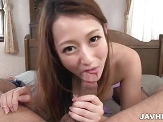 Sweet Reon Otowa shows how to suck and fuck a cock