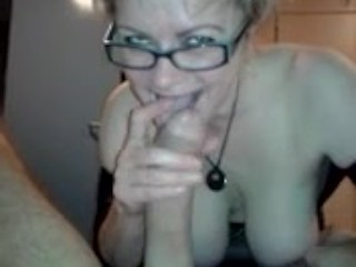 HUGE COCK GETTING SUCKED BY BUSTY MILF IN POV
