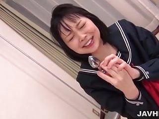 Dildo deep into Yuri Sakurai's tight and warm meat hole