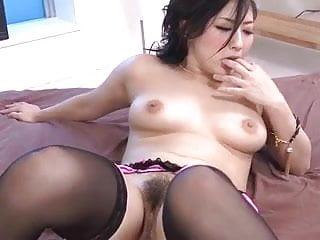 Two horny guys tag team sexy Megumi Haruka