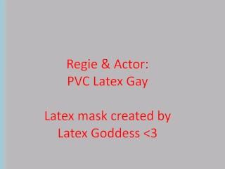 "PVC Latex Gay new latex mask ""slut""… (short)"