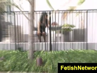 FetishNetwork Layla Lopez nylon upskirt