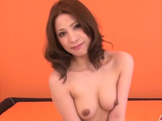 Tsubasa Aihara works hard to pose her flaming solo show