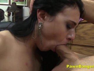 Brunette Teen Slut Deepthroats Cock For Cash
