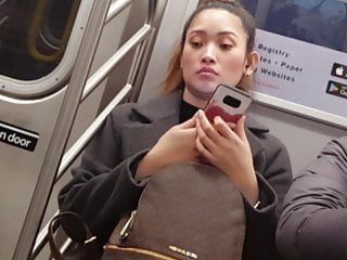 Cute asian on the train
