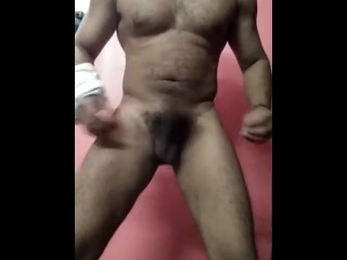 Indian Guy strips and dances in front of camera