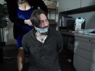 Man Joins Woman Tied Up