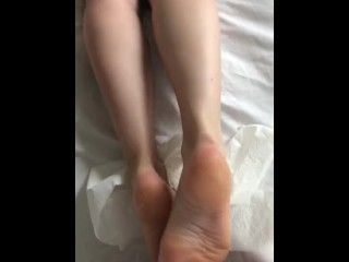 Amateur Cuckold Footjob