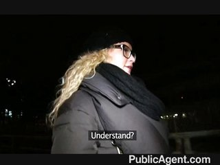 PublicAgent – sexy girl in glasses fucked